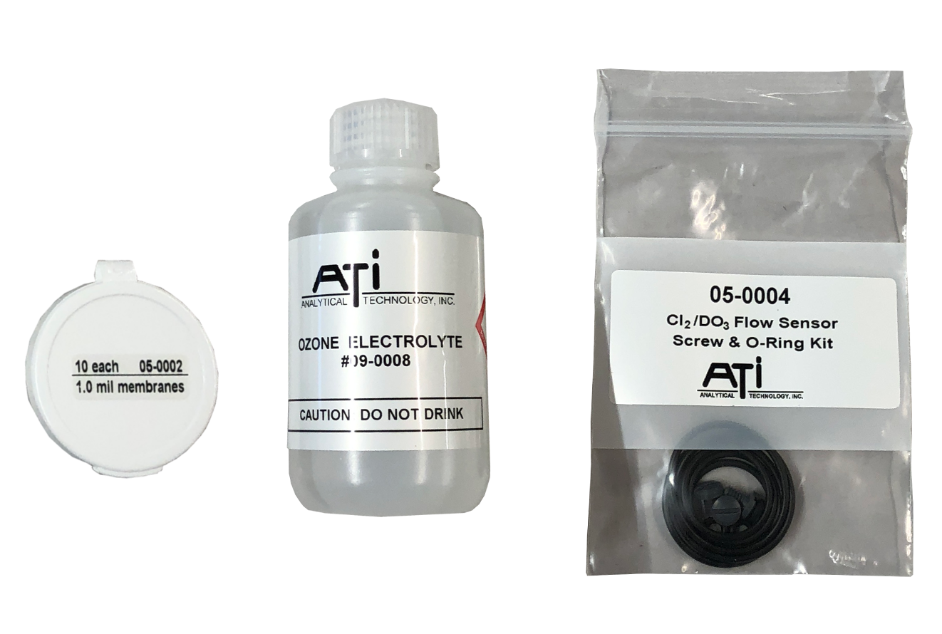 Parts kit shipped with every Q46H dissolved ozone meter