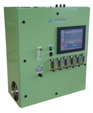 ozone cabinet for sparging