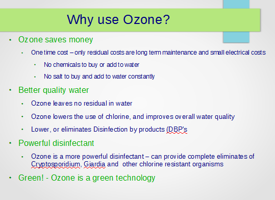 Why treat well water with ozone?