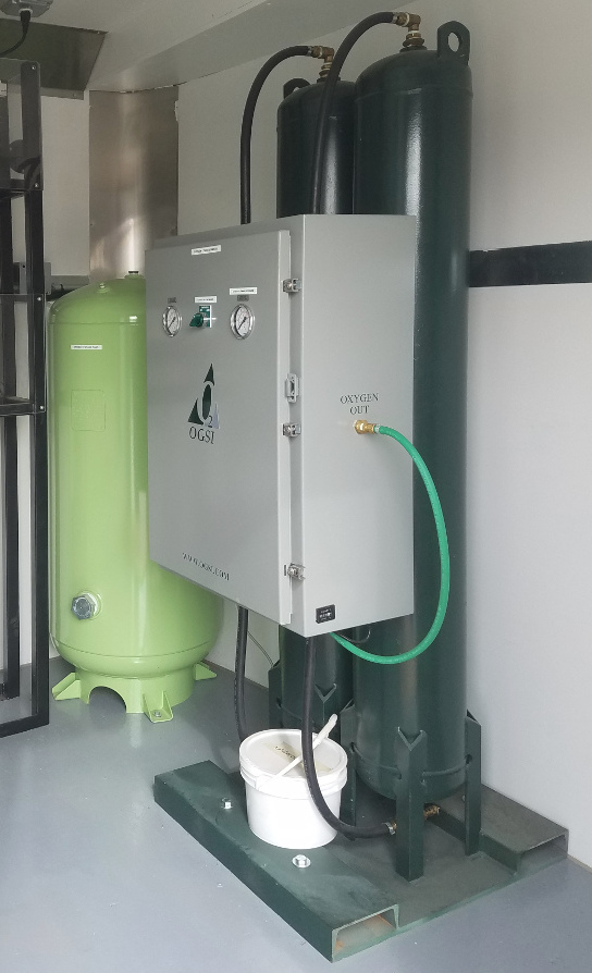 Oxygen Generator in groundwater remediation system