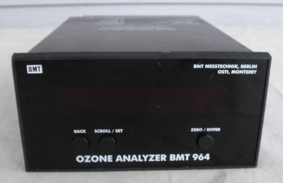 BMT 964 Ozone analyzer calibration