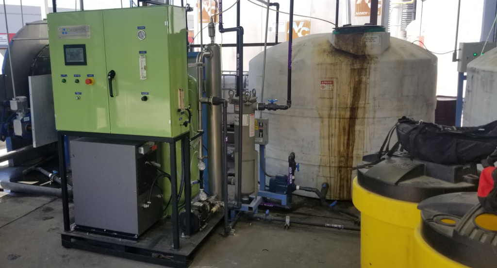 Water reclamation with ozone