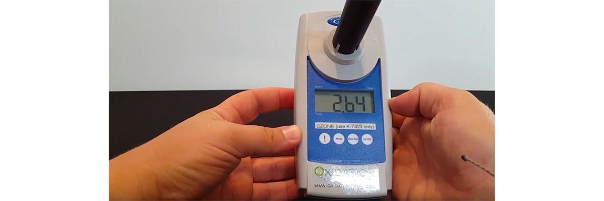 How to Measure Dissolved Ozone Using the I-2019 Digital Handheld Meter