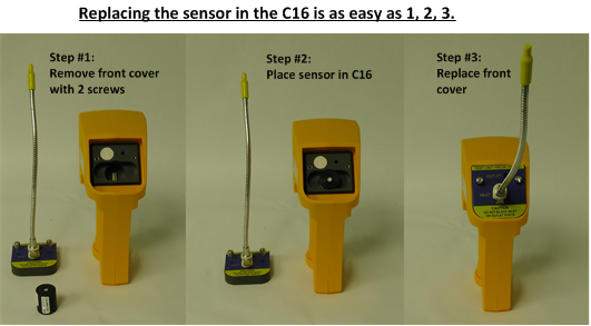 C16 multi-gas sensor changing sensors
