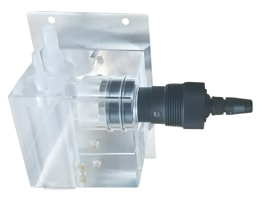 constant-head ozone water sensor cell assembly