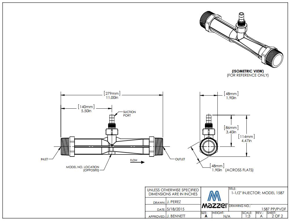 Model 1587 Venturi Injector