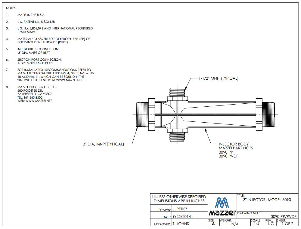 Model 3090 Venturi Injector