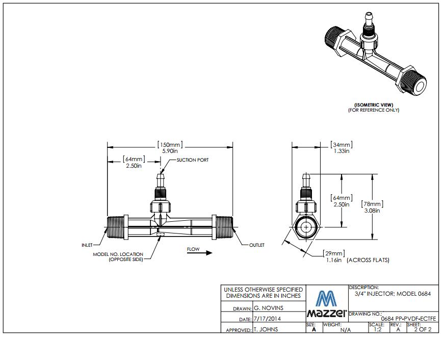 Model 684 Venturi Injector