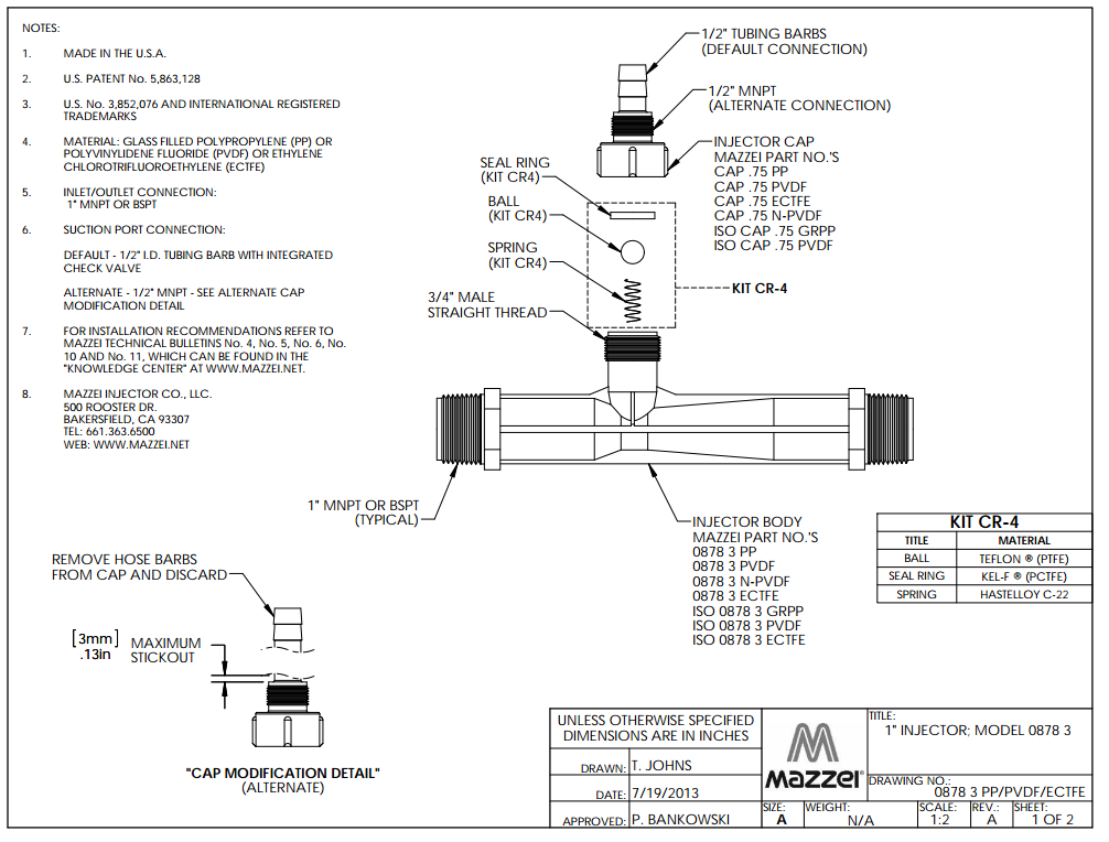 Model 878 Venturi Injector