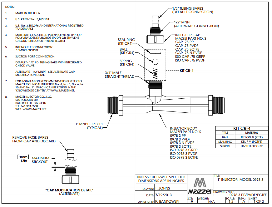 Model 978 Venturi Injector