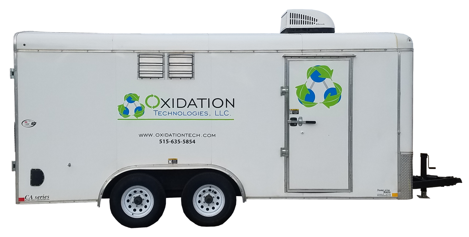 Ozone trailer for groundwater remediation