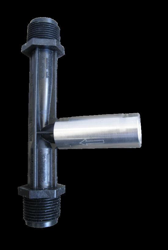 Check valve used on venturi