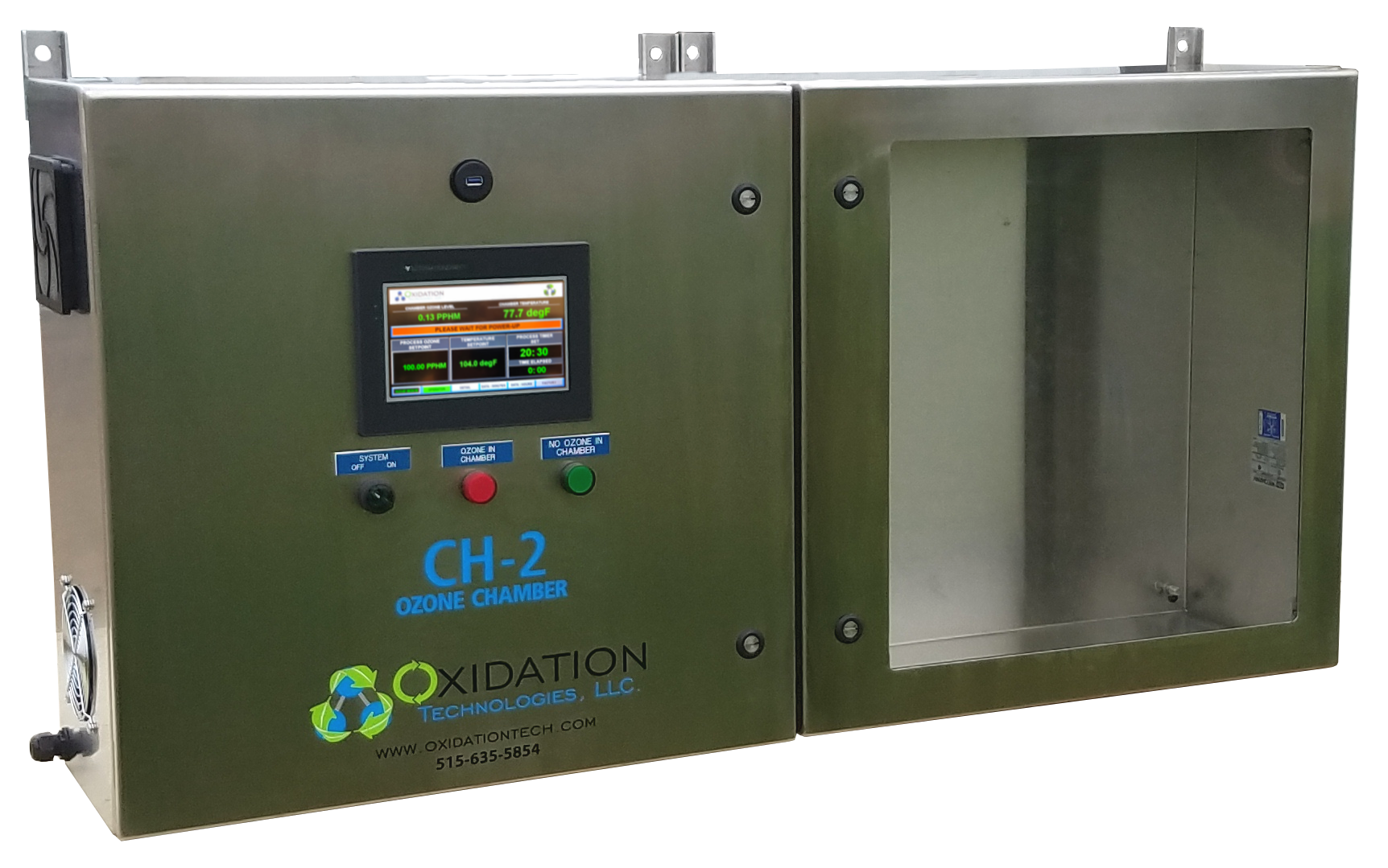 Ozone chamber for exposure testing