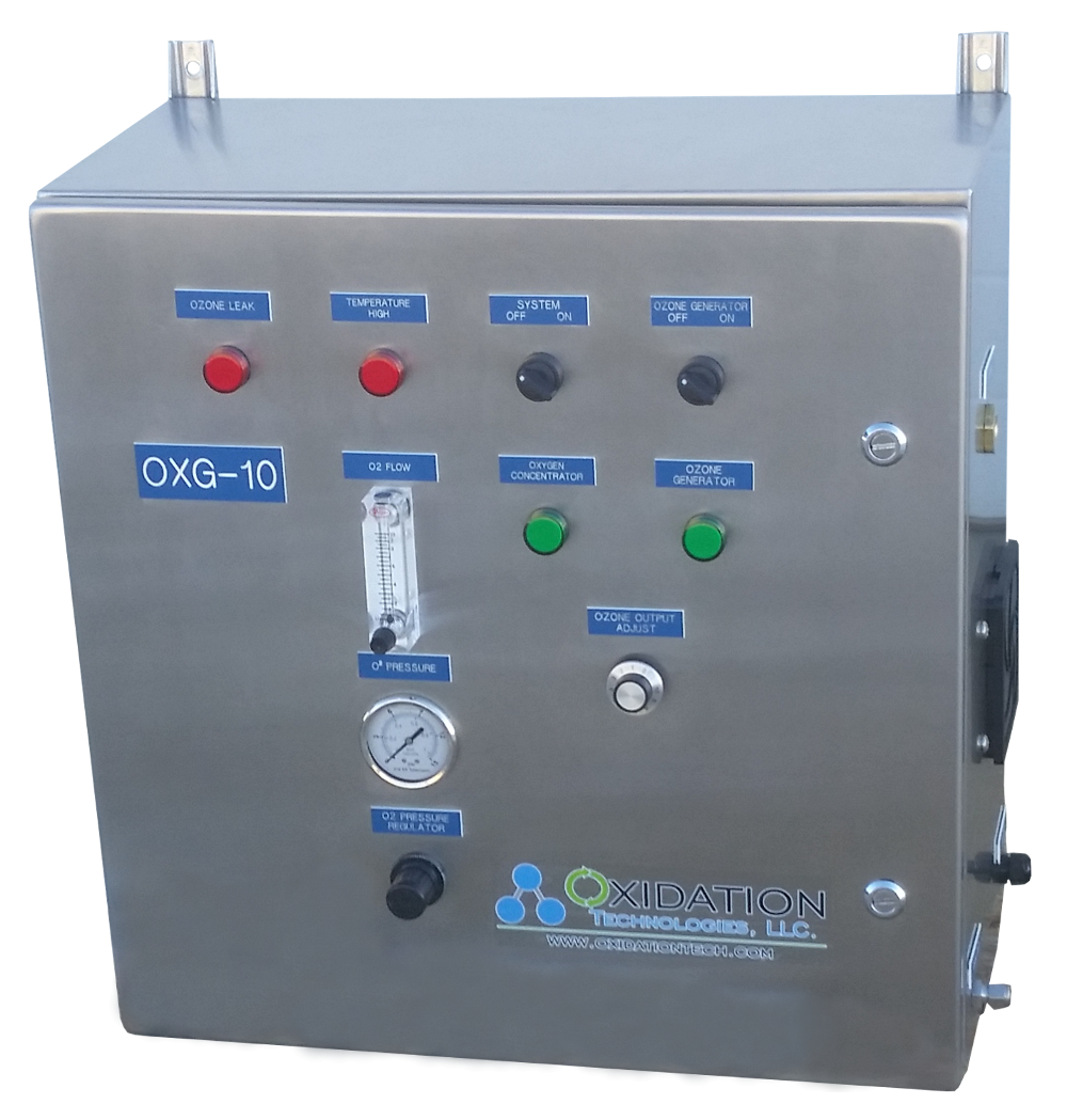 OXG-Series ozone generator use integrated oxygen