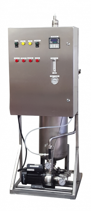 OST-40 ozone water system with optional dissolved ozone monitor and ORP monitor.