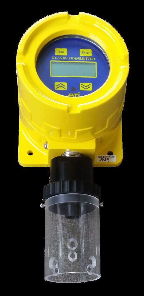 Sensor splash guard for the D12 toxic gas transmitter
