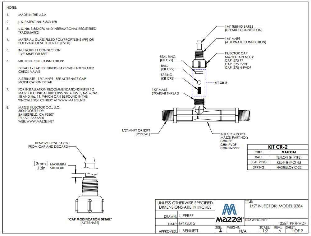 Model 384 Venturi Injector