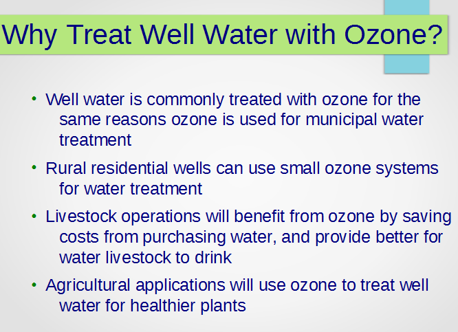 Why use ozone for water treatment