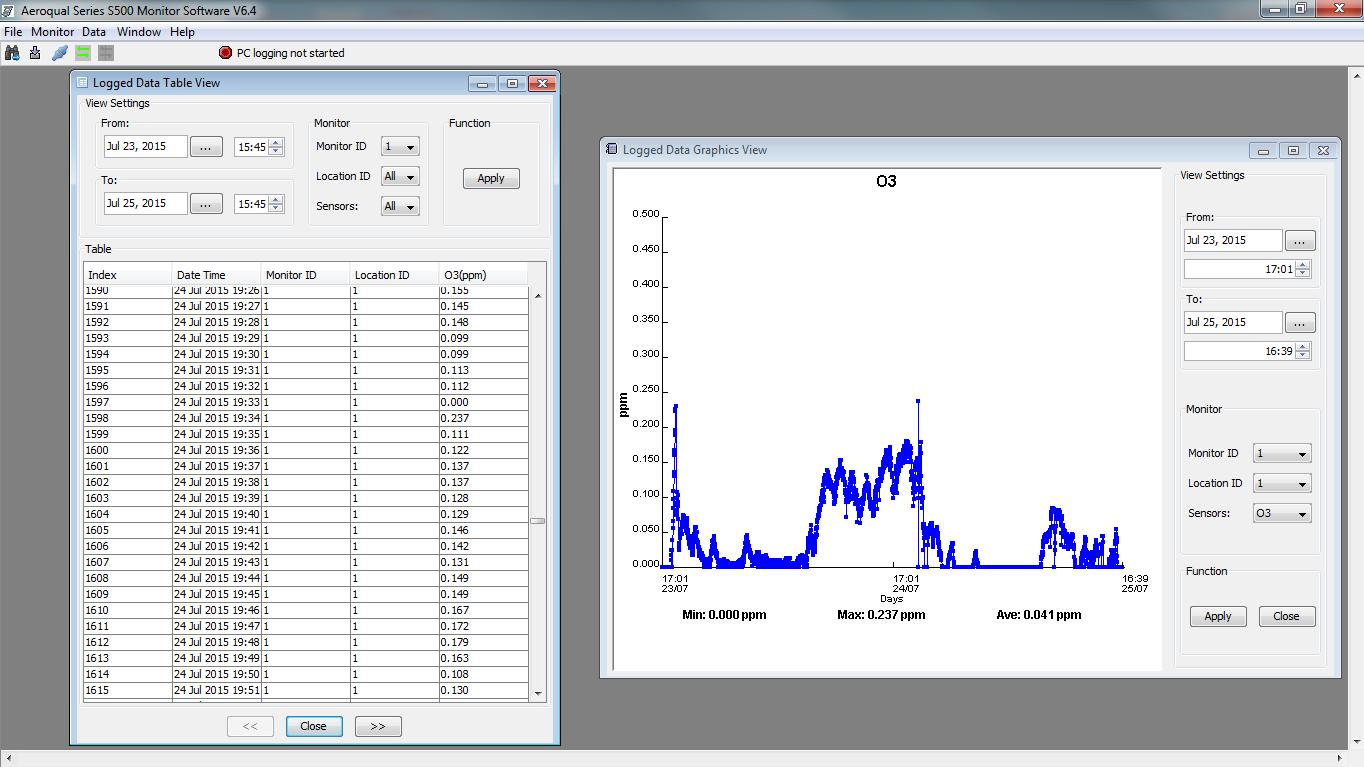 s-500 data logging example