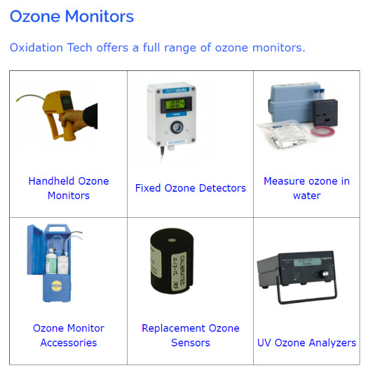 Ozone Monitors that are offered by Oxidation Technologies